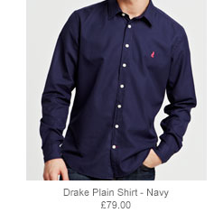Drake Plain Shirt - Navy