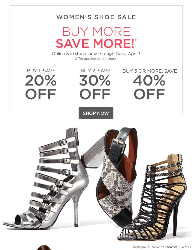 Women's Shoe Sale Buy More, Save More