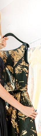 THEIA - Gold Stroke Dress