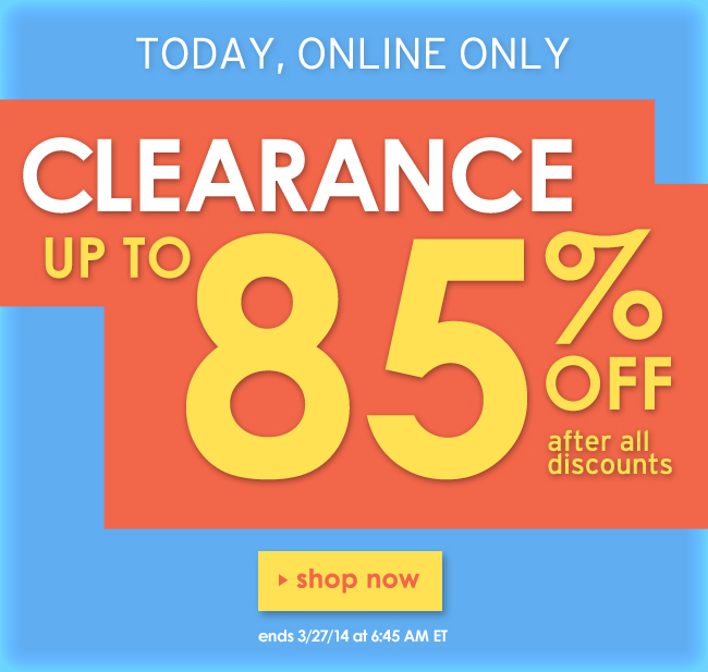 Up tp 85% off clearance