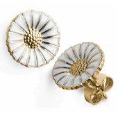 Daisy Earrings, White
