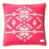 Snowflake Pillow Case, 50x50 cm, Mid Pink