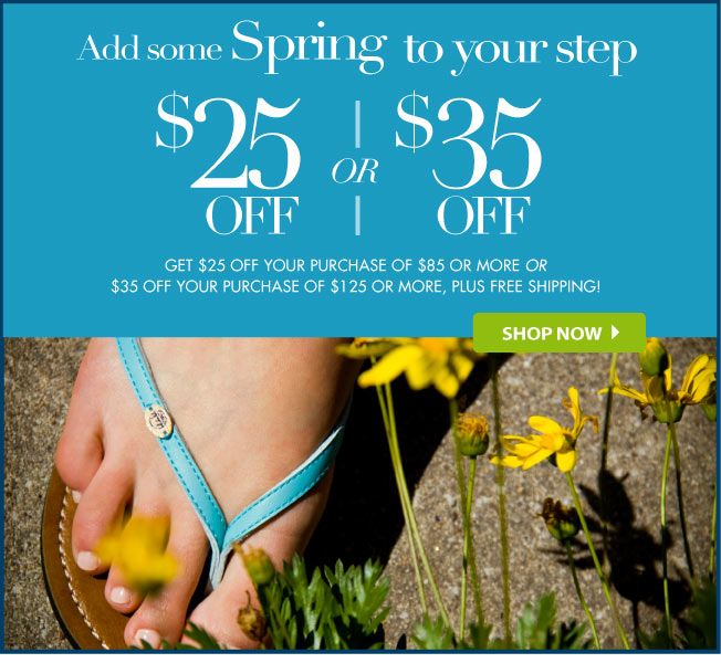 $25 off $85 or $35 off $125!
