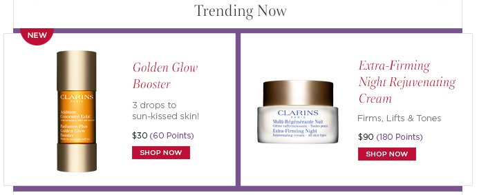 Trending Now: Golden Glow Booster, Extra-Firming Night Rejuvenating Cream