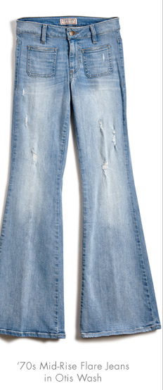 70'S MID-RISE FLARE JEANS IN OTIS WASH