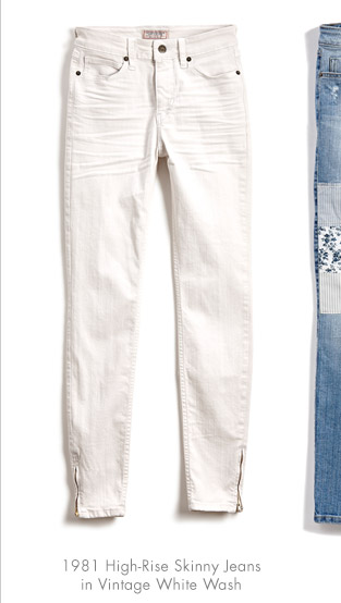 1981 HIGH-RISE SKINNY JEANS IN VINTAGE WHITE WASH
