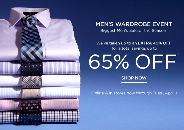 Shop the Men's Wardrobe Event
