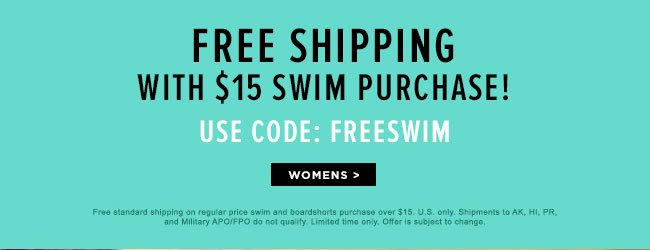 Free Shipping with $15 purchase!