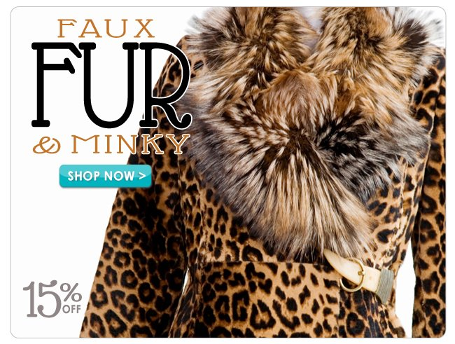 15% off Faux Fur & Minky Fabric