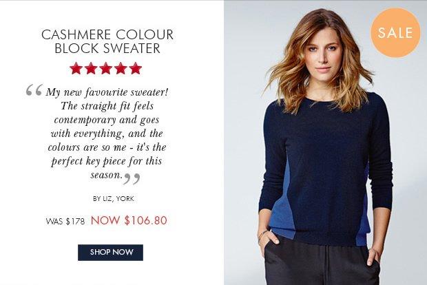 Download Images: Shop Cashmere Colour block Sweater