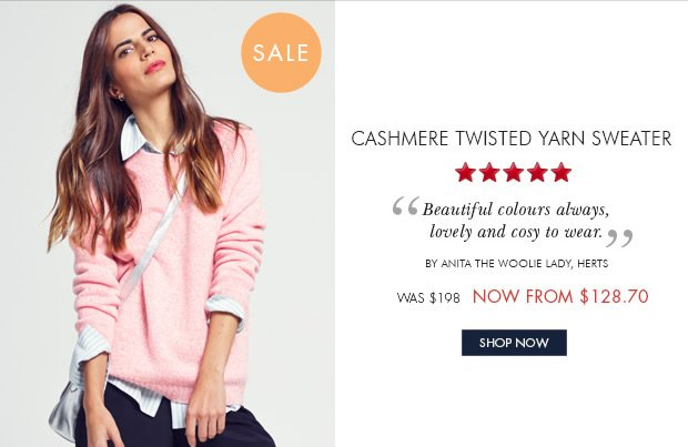 Download Images: Shop Cashmere Twisted Sweater