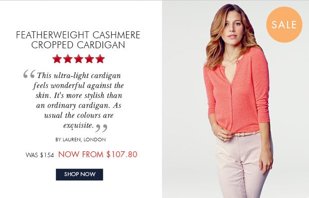 Download Images: Shop Featherweight Cashmere Cropped Cardigan