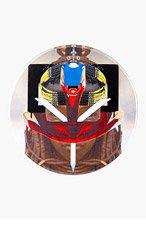 GIVENCHY Brown Robot Himba Badge Pin for women