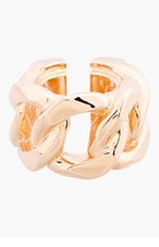 GIVENCHY Rose Gold Curb chain ring for women