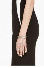 EDDIE BORGO Silver Tiered Handpiece for women