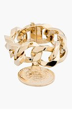 GIVENCHY Gold Curb-chain Medallion Bracelet for women