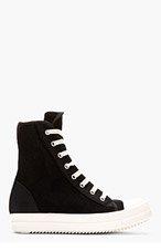 RICK OWENS DRKSHDW Black Mesh Ramones Sneaker for women