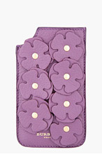 BURBERRY PRORSUM Purple Deerskin Flower Appliqué iPhone Case for women