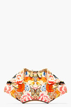 ALEXANDER MCQUEEN Red Embroidery print SMALL DE MANTA CLUTCH for women