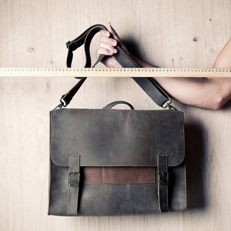 Satchel Bag // Grey + Brown