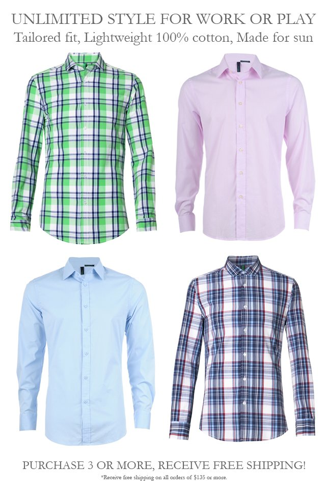 Choose from every style of shirt and stock up! Free Shipping on $135 or more.