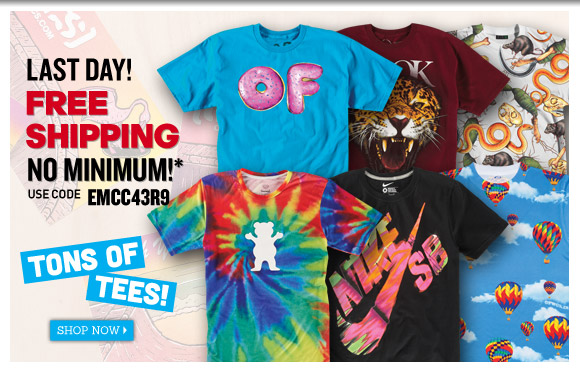 Last Day! Free Shipping on ALL orders!*