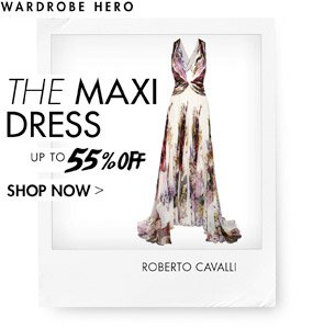 MAXI DRESSES UP TO 55% OFF