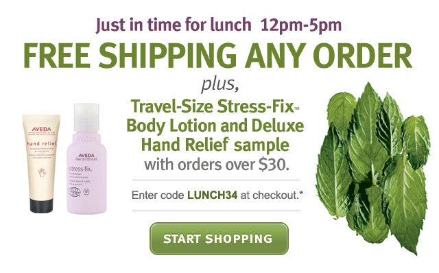 free shipping any order plus travel size stress fix body lotion and deluxe hand relief sample with orders over $30. start shopping.