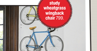 study  wheatgrass wingback chair
