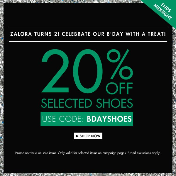 2Get 20% off selected shoes!