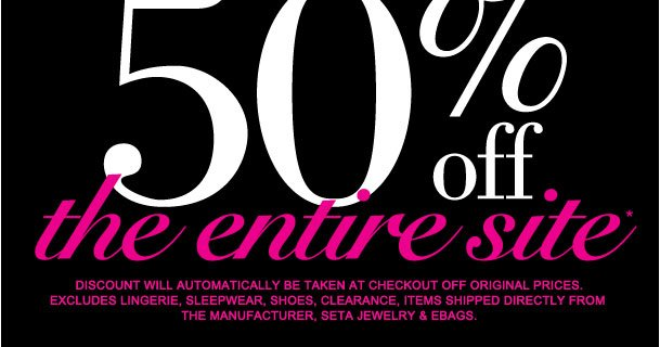 One Day Only! Take 50% off the Entire site!