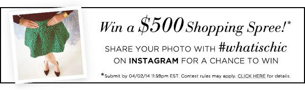 Win a $500 Shopping Spree!