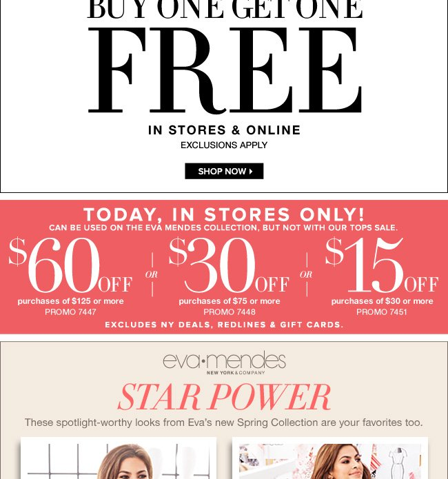 Save Up to $60 Off Your Purchase In Stores with Coupon!