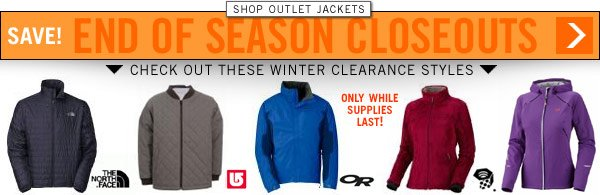 End Of Season Jacket Deals