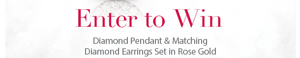 ETNER TO WIN - Diamond Pendant & Matching Diamond Earrings Set in Rose Gold