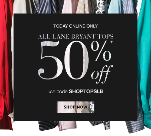 50% Off All Tops - Online Only