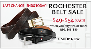 LAST CHANCE - ENDS TODAY! ROCHESTER BELT SALE