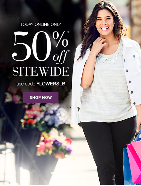 50% Off Sitewide - Online Only