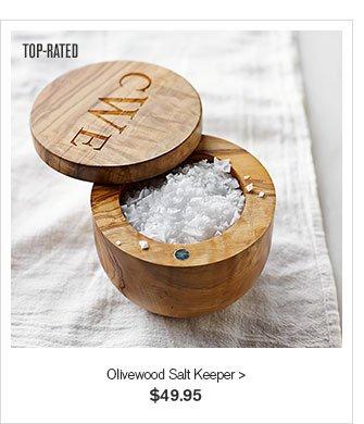 TOP RATED - Olivewood Salt Keeper - $49.95