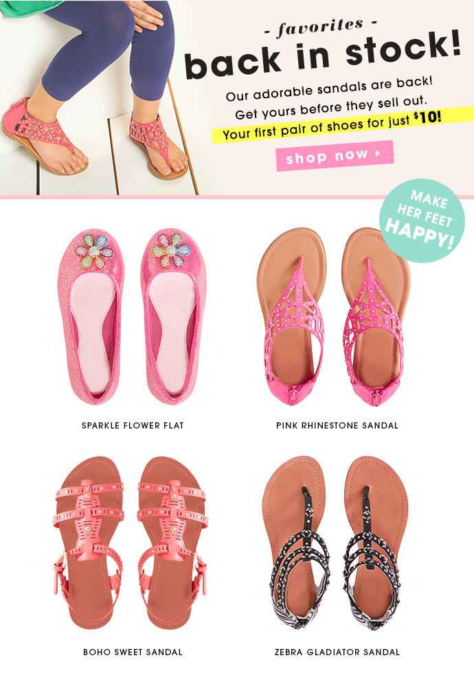 Favorite Shoes Back In Stock! Get your first pair for $10!