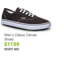 Men's Classic Canvas Shoes $17.99 MSRP $60