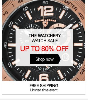 THE WATCHERY WATCH SALE UP TO 80% OFF - Shop now