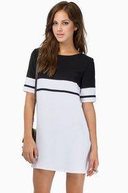 Stripe Me Shift Dress $46