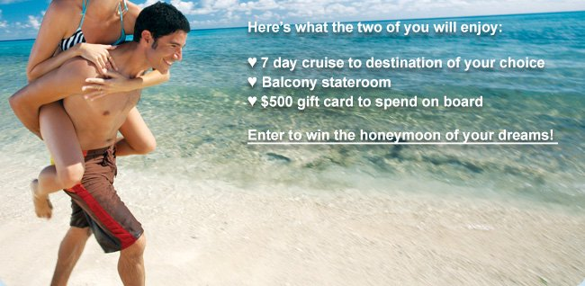 Enter to win the honeymoon of your dreams!