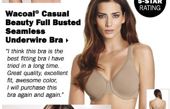 Wacoal® Casual Beauty Full Busted Seamless Underwire Bra.