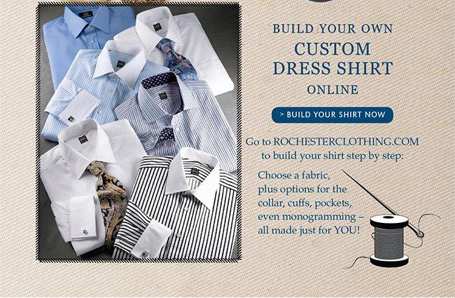 BUILD YOUR OWN CUSTOM DRESS SHIRT ONLINE | BUILD YOUR SHIRT NOW