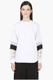CHLOE White Oversize Layered Sleeve Blouse for women