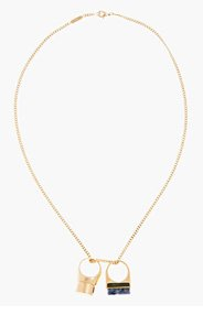 CHLOE Gold Double Ring Pendant Bettina Necklace for women