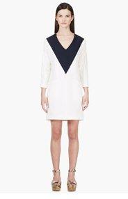 CHLOE Ivory & Navy COLORBLOCKED SAILOR DRESS for women