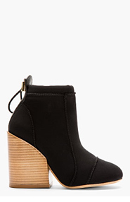 CHLOE Black Neoprene Bungee Boots for women